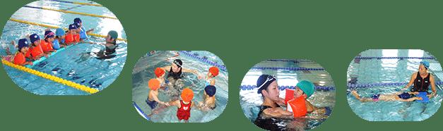 パレットスポーツクラブとの提携による水泳教室