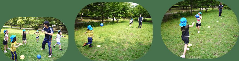 体育講師によるボール教室