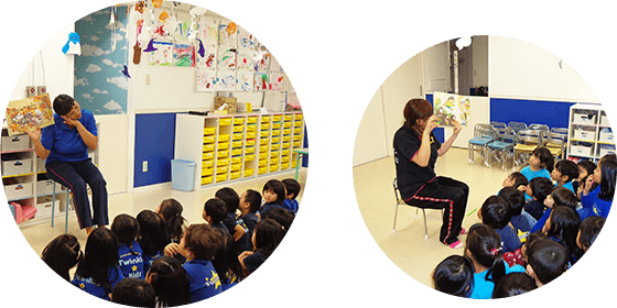Circle time & Story time 授業&読み聞かせ